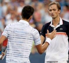 E' un Medvedev in versione top-5, a Cincinnati Djokovic si arrende