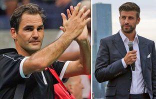 Roger Federer e Gerard Pique