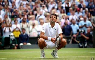 Novak Djokovic sull'erba di Wimbledon