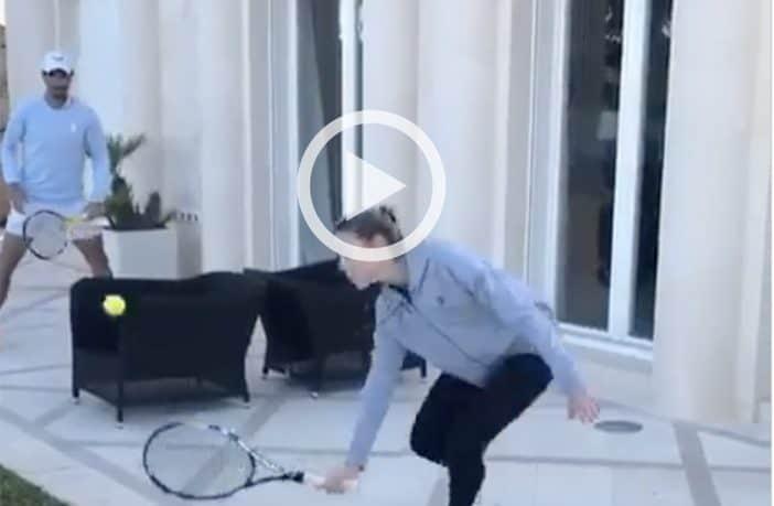 Nadal gioca a tennis con la sorella
