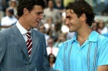 Gustavo Kuerten e Roger Federer