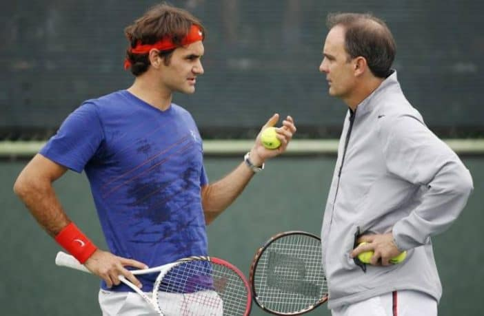 La routine pre-match di Federer