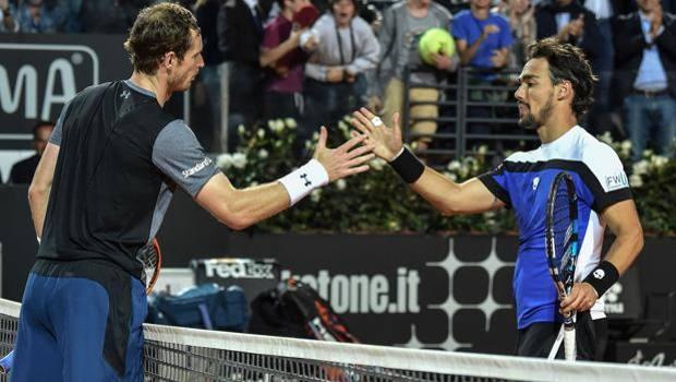Le parole di Fognini per Federer e Murray