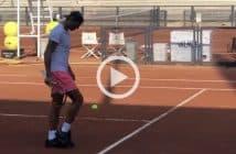 Nadal, spettacolo calcio-tennis a Roma