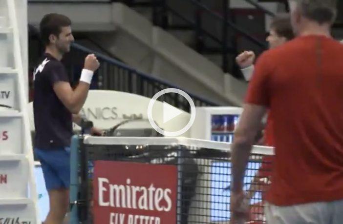 Spettacolare allenamento a Vienna con Djokovic e Thiem