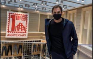 Roger Federer in visita a Milano