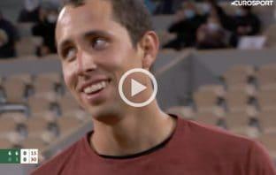 Il punto pazzesco di Galan contro Djokovic