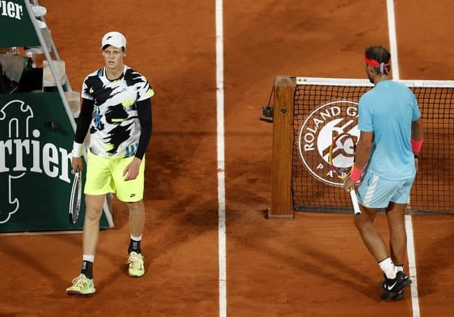 Jannik Sinner e Rafael Nadal