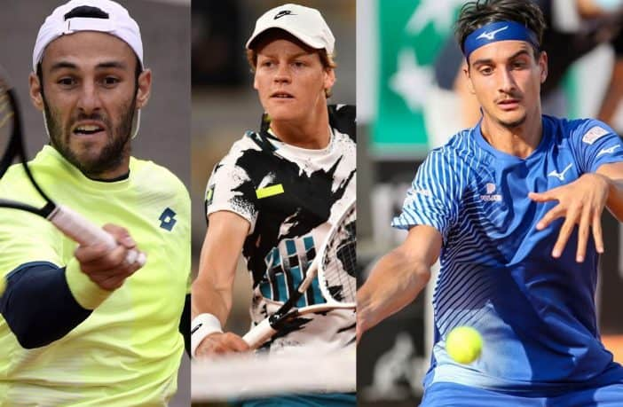 Travaglia, Sinner e Sonego al Roland Garros