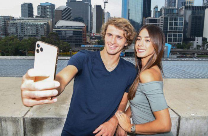 Alexander Zverev con l'ex fidanzata Brenda Patea