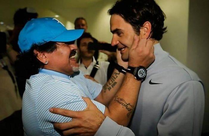 Quella volta che Maradona spese parole bellissime per Roger Federer