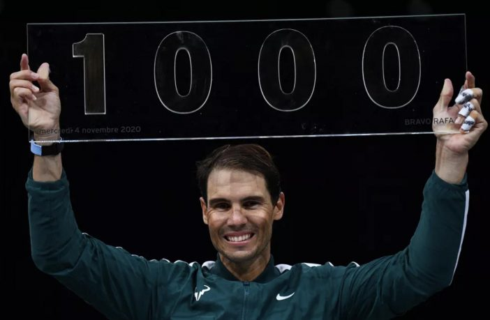 Mille vittorie in carriera per Rafael Nadal