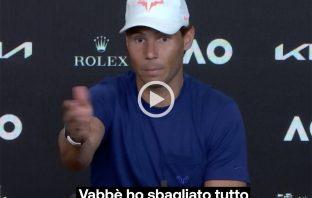 """Nadal """"annuncia"""" in diretta il forfait di Berrettini"""