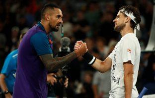 Nick Kyrgios sconfitto da Dominic Thiem agli Australian Open
