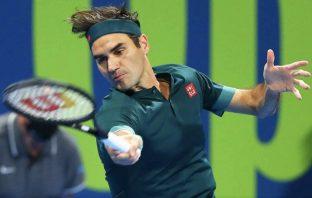 Federer vince contro Evans a Doha
