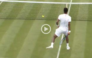 La volée in tweener di Monfils a Wimbledon