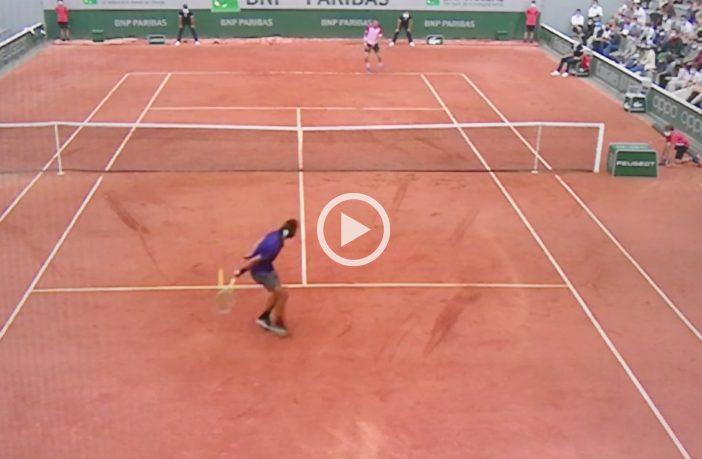 Musetti mette a segno due dei migliori punti del Roland Garros