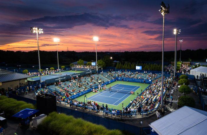 Il tramonto sul Western & Southern Open