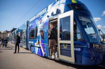 Inaugurato il tram dedicato a Federer